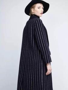 布莎卡冬季时尚欧美长款外套