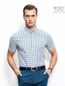 步森男装步森男装2016新品格子衬衫