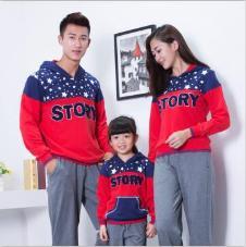 兰缔吉儿2016亲子装休闲长袖T恤