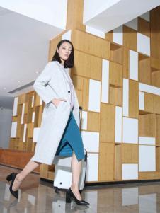 玳莎冬季欧美时尚长款大衣正品