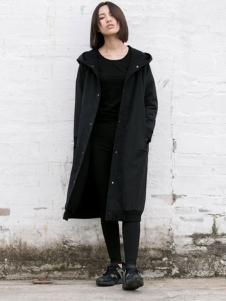 YBS女装2016秋冬新品纽扣外套