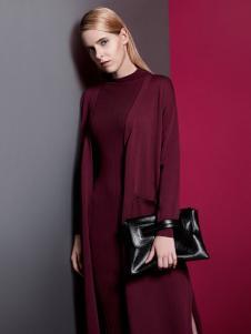 乔帛时尚女装秋季针织长款外套