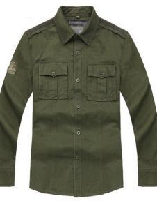 奥库纯棉户外长袖衬衫