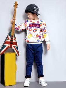 玛玛米雅男童印花卫衣