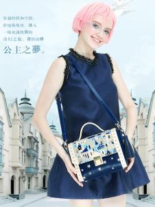 artmi蓝色欧美女包新品正品