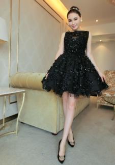 WONGVAZO 2016潮牌黑色小礼服
