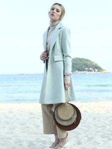 蜜西娅女装2016新品灰色大衣