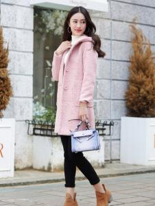 卡茵琪秋季粉色韩版外套