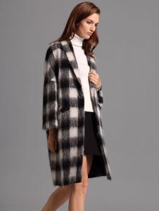 2016斯尔丽格子大衣