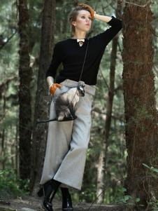 蜜西娅女装2016新品阔腿裤
