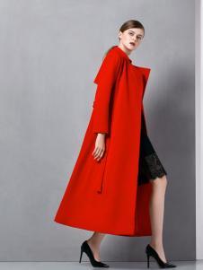 奥伦提长款红色大衣