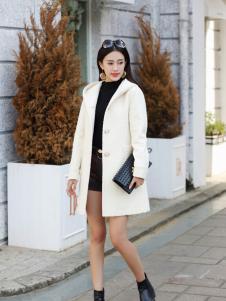 卡茵琪秋季时尚修身长款外套