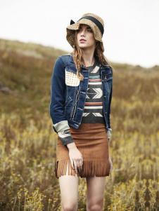 丹尼布鲁秋季时尚修身牛仔外套
