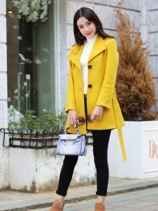 卡茵琪黄色时尚服饰