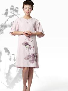 木棉道女装民族风连衣裙