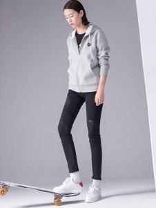 初语女装2016秋冬新品灰色外套