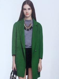 薇妮兰绿色韩版修身羽绒服