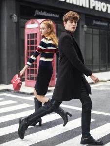 莎斯莱思男装中长款黑色外套