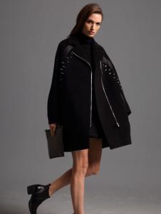 2016斯尔丽黑色休闲大衣
