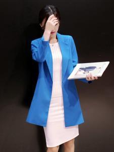 必芙丽蓝色时尚外套