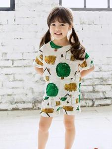 Moimoi童装新品女童家居服