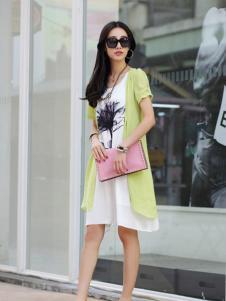 卡茵琪春夏绿色外套新品