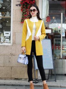 卡茵琪秋季黄白时尚外套新款