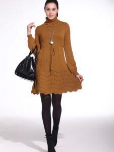 Poterie陶女装长袖连衣裙