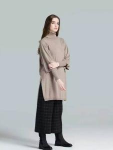 布莎卡冬季时尚卡其长款上衣