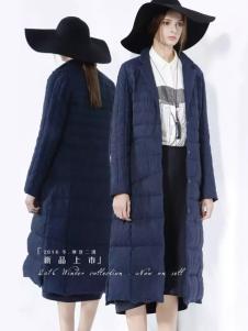 迪斯廷凯冬季时尚欧美长款羽绒服