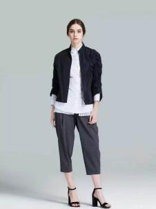 布莎卡冬季时尚黑色短款外套