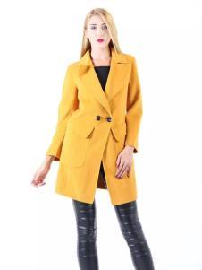 必芙丽秋冬黄色外套