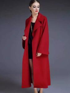 布莎卡冬季时尚红色长款正品