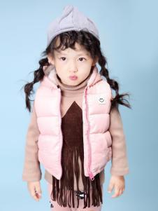 兔子杰罗女童粉色羽绒马甲