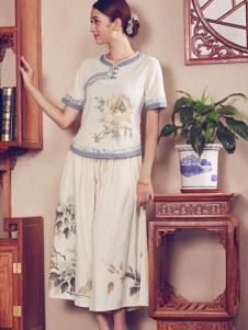 木棉道女装素雅棉麻裙