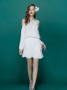 TiTi夏季白色连衣裙新品爆款