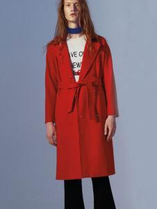 2016DOTACOKO女士红色风衣
