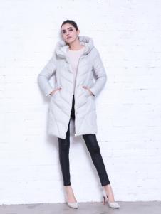 艾诺绮冬季时尚长款羽绒服
