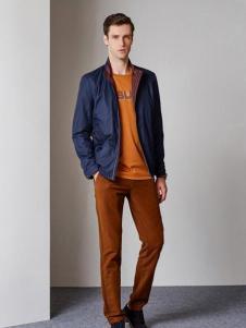爱迪·丹顿秋季蓝色色夹克外套
