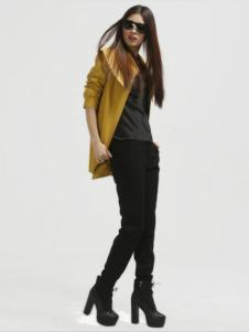 缇蕾娜女装黄色外套