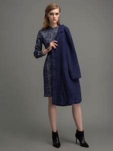 迪索怡蓝色韩版大衣