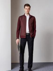 爱迪·丹顿秋季红色夹克外套