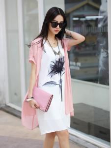 卡茵琪粉红纯棉外套新品
