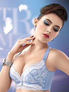 卡诗贝尔秋冬蓝色蕾丝内衣新品