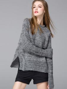 YOSUM灰色针织毛衣
