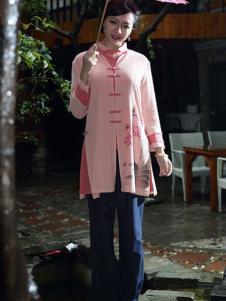 木棉道时尚棉麻开衫