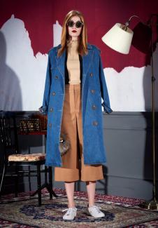 米祖女装长款牛仔外套