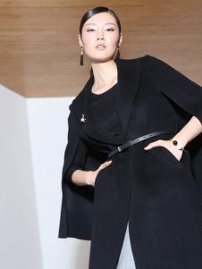 玳莎冬季时尚黑色长款外套专卖