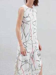 KENNY2016秋季时尚印花长款连衣裙