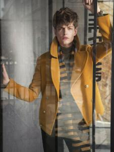 莎斯莱思男装黄色毛呢短外套